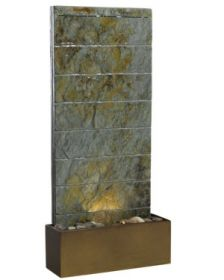 Brook Slate Color Transitional Table / Outdoor / Wall Fountain - Discount Fountains