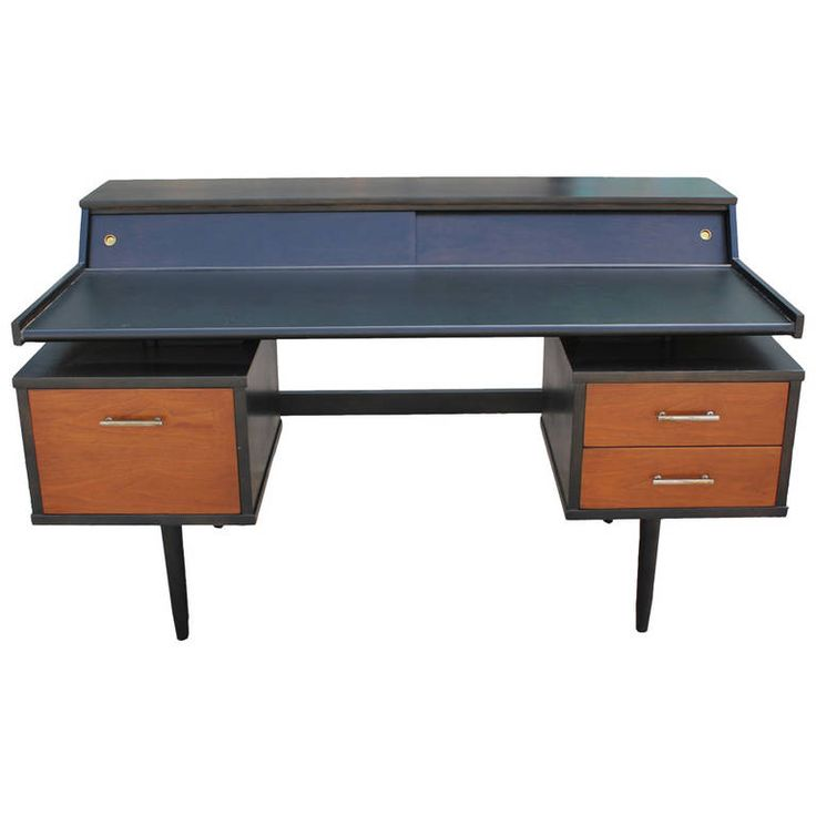 Impressive Milo Baughman Floating Desk | From a unique collection of antique and modern desks and writing tables at https://www.1stdibs.com/furniture/tables/desks-writing-tables/