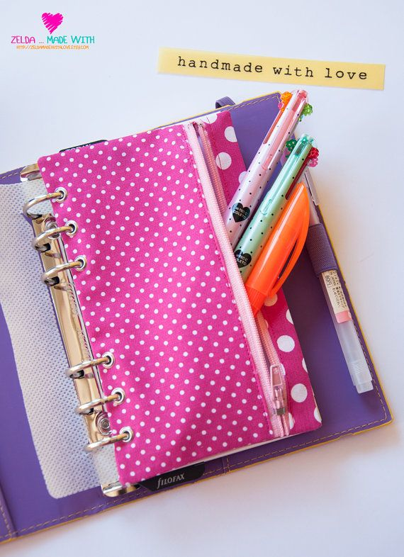 Filofax Personal Zippered Pencil Purse by ZeldaMadeWithLove, €8.90