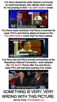 """How the """"Fox News Cycle"""" can have a significant impact on Republican politics.    Step 1: They develop a smear.    Step 2: The criticize other media for not covering their smear.    Step 3: They use unethical practices to push that smear.    Step 4: The Fox News smear becomes a Republican theme."""