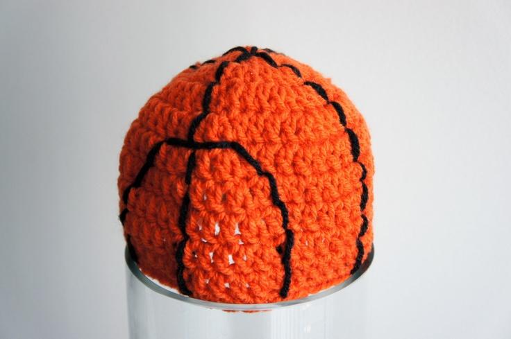 Sports Hats, Baseball, Basketball, Football, Crochet Sports Hats, Crochet Baby Hat, Baby Hat, photo prop. $39.99, via Etsy.