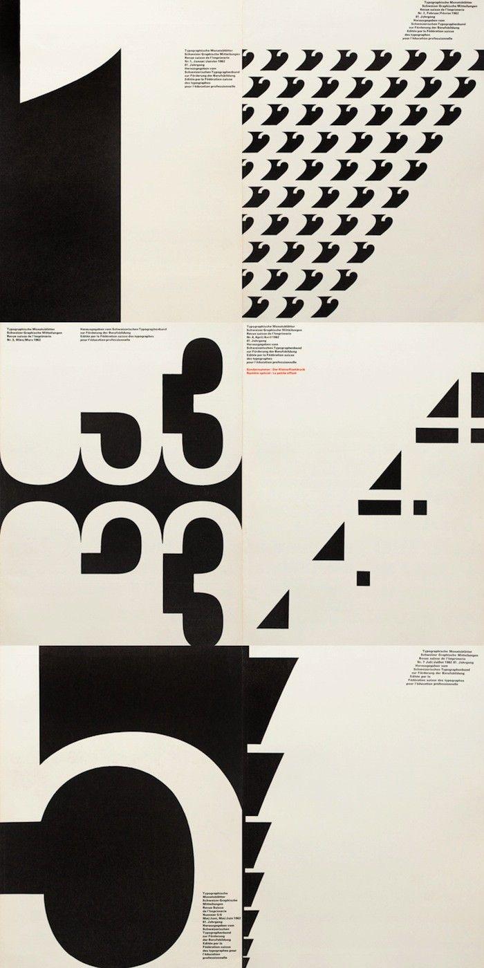 Univers: Typographische Monatsblätter 1962 issues