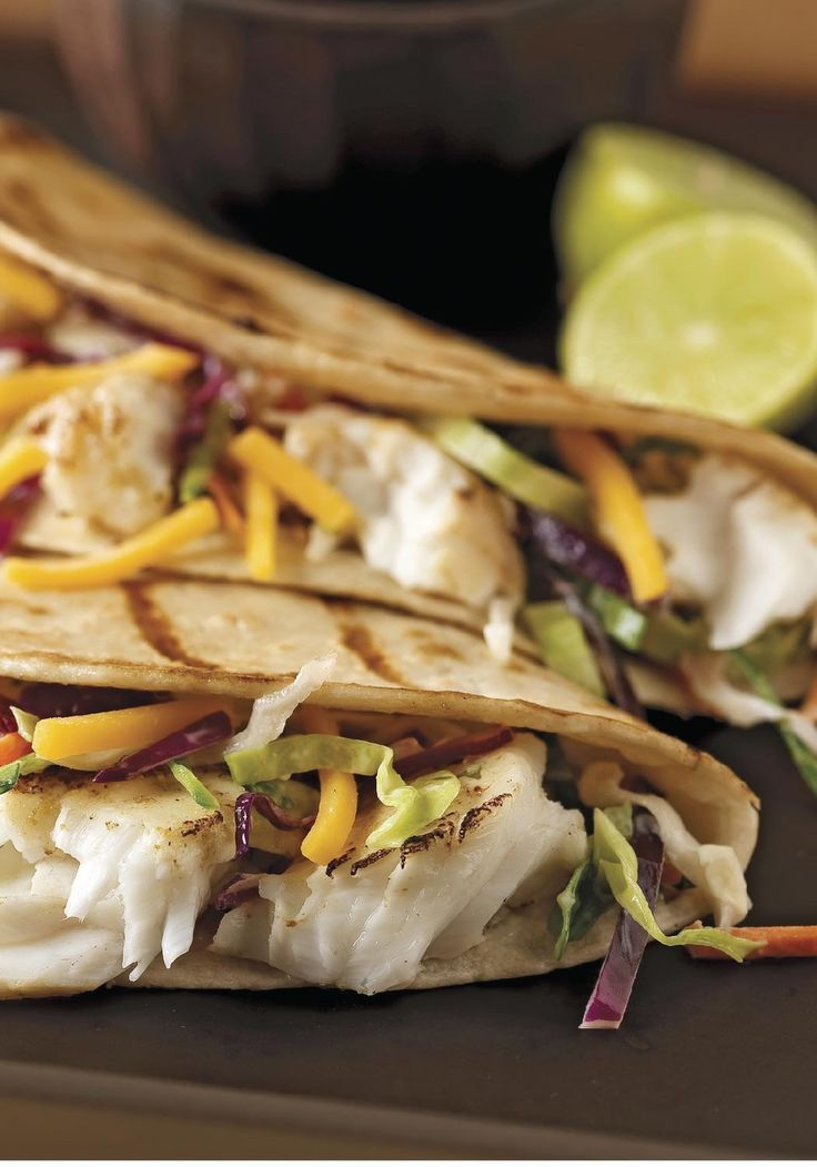 Grilled fish tacos with creamy coleslaw for two skip for Healthy fish taco recipe