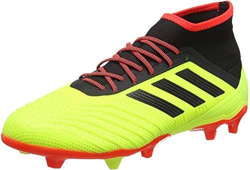 adidas Predator 18.2 FG Chaussures de Football Homme Jaune ...