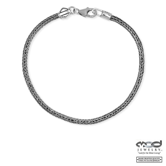 Harley-Davidson® MOD® Woven Sterling Silver Ride Bead