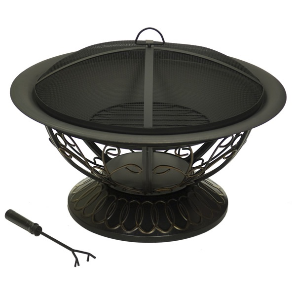 Scroll Design Bronze Fire Pit from Woodland Direct $168.00 ...