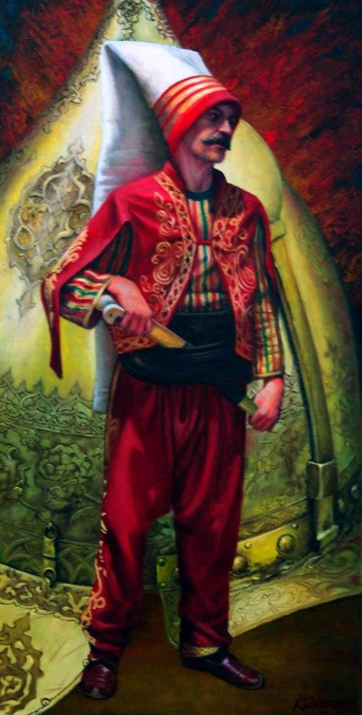 "- An Ottoman Janissary Soldier ""Kamil Aslanger""./tcc/"