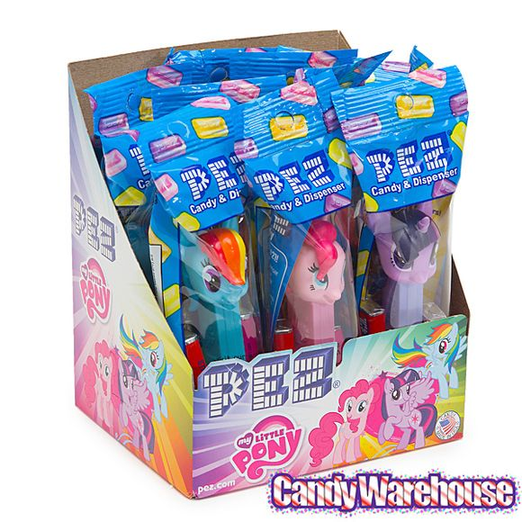 My Little Pony PEZ Candy Packs: 12-Piece Display - goody bag