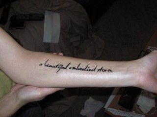 Forearm/Wrist quote tattoo placement. This is where I am getting my 1st one. :]