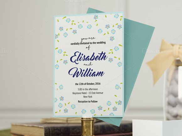Forget Me Not - Wedding Invitation by Northern Kraft on @creativemarket