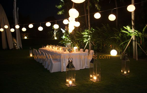 wedding reception at Pure Villa Bali
