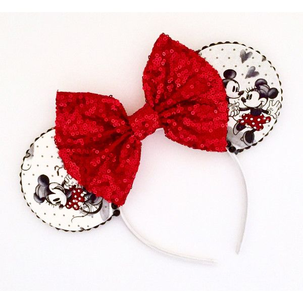 The Love Story Handmade Mouse Ears Headband ($21) ❤ liked on Polyvore featuring accessories, hair accessories, hair band accessories, headband hair accessories, head wrap hair accessories, head wrap headbands and hair band headband