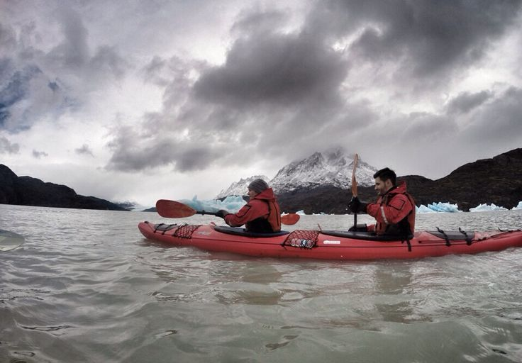 First impressions from Chilean Patagonia - The Fleeting Day kayak to glacier grey in torres del paine