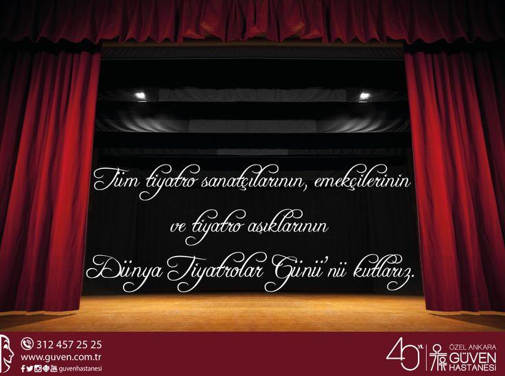 Tüm tiyatro sanatçılarının, emekçilerinin ve tiyatro aşıklarının 27 Mart Dünya Tiyatrolar Günü'nü kutlarız.