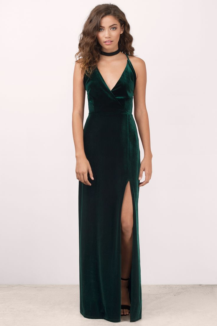 Embrace Me Velvet Maxi Dress at Tobi.com #shoptobi