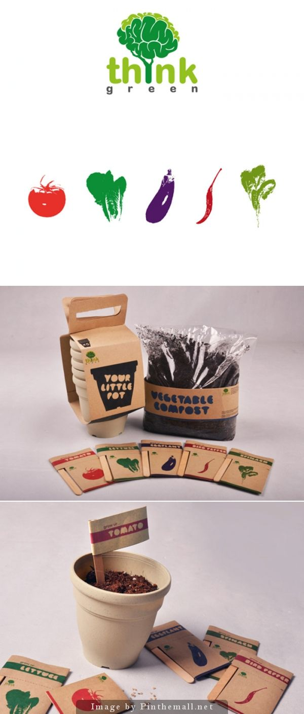 Think Green! sweet simple #packaging for gardeners PD