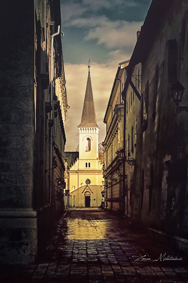 - Calvinist Church, Košice, Slovakia.Through the alley by Zoran Milutinovic on 500px