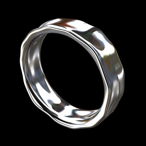 Platinum Unique Hammered Finish Men's Eternity Ring by OroSpot, $1569.00