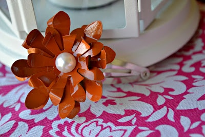 Metal flowersHair Clips, Flower Headbands, Flower Crafts, Crissy Crafts, Metals Flower, Metals Diy, Metals Crafts, Diy Flower, Flower Hair