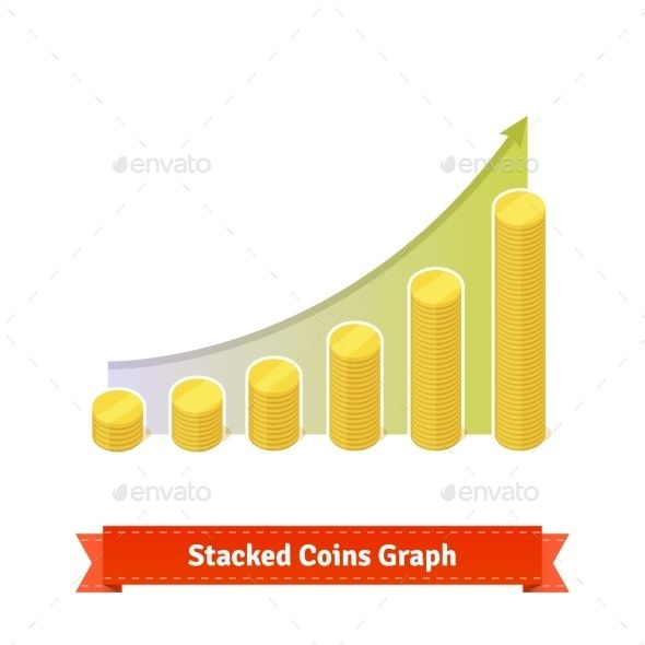 Stacked Gold Coins Graph
