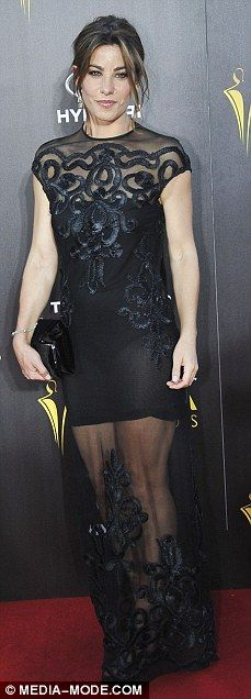 Wonders in black: Wonderland star Brooke Satchwell and Puberty Blues actress Charlotte Bes...