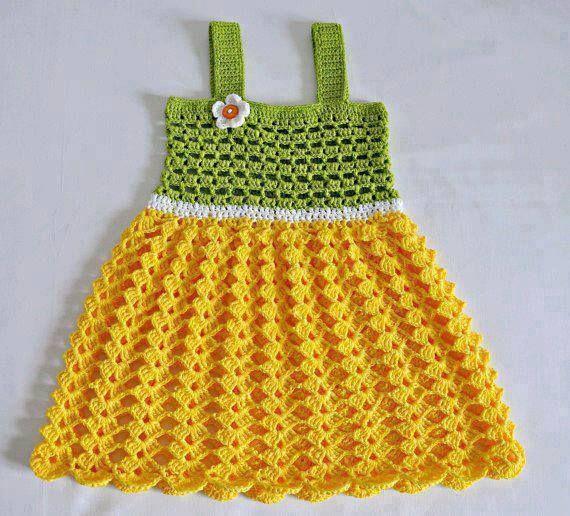 Yazlık Örgü Çocuk Elbisesi Yapılışı