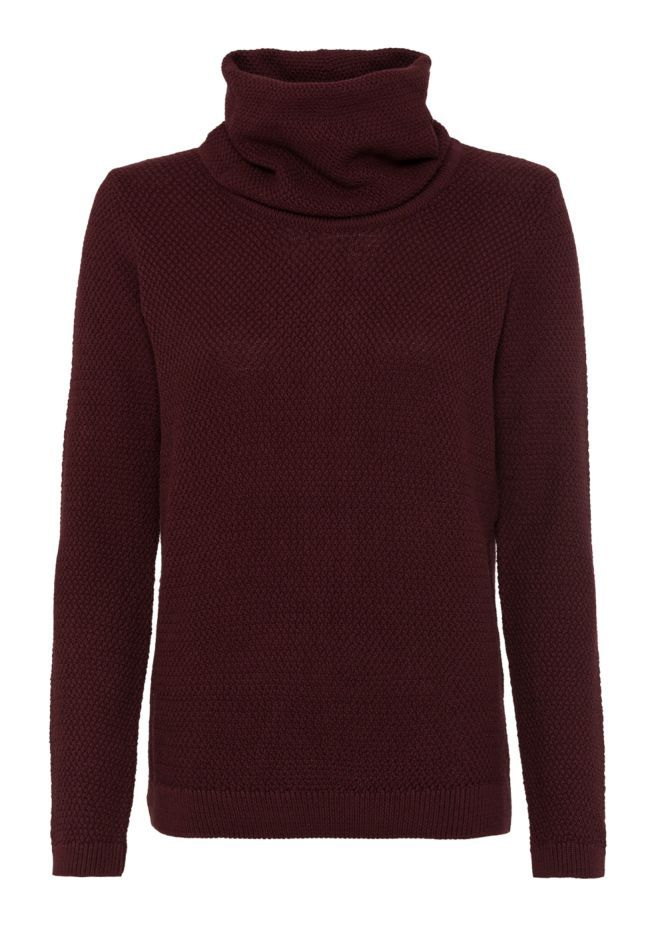 available in red - Strick Pullover Solid, 100% Baumwolle (bio), Regular fit, GOTS - sustainable materials and fair production