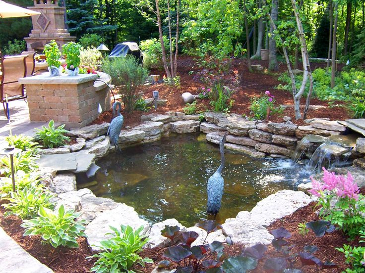 251 best images about my cool garden on pinterest for Artificial fish pond