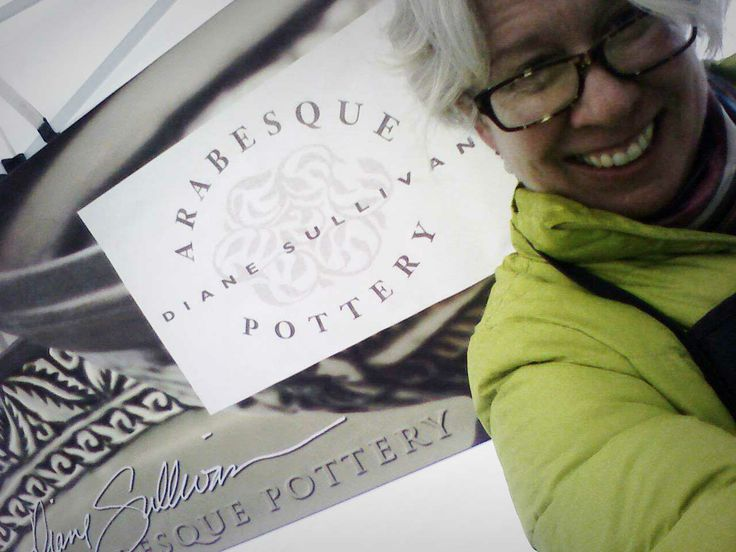 Diane Sullivan did the honours of the first #vendor #selfie at the market. As creative as her pottery.