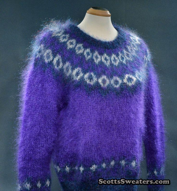 614-024 Woman's Icelandic Design Mohair Sweater