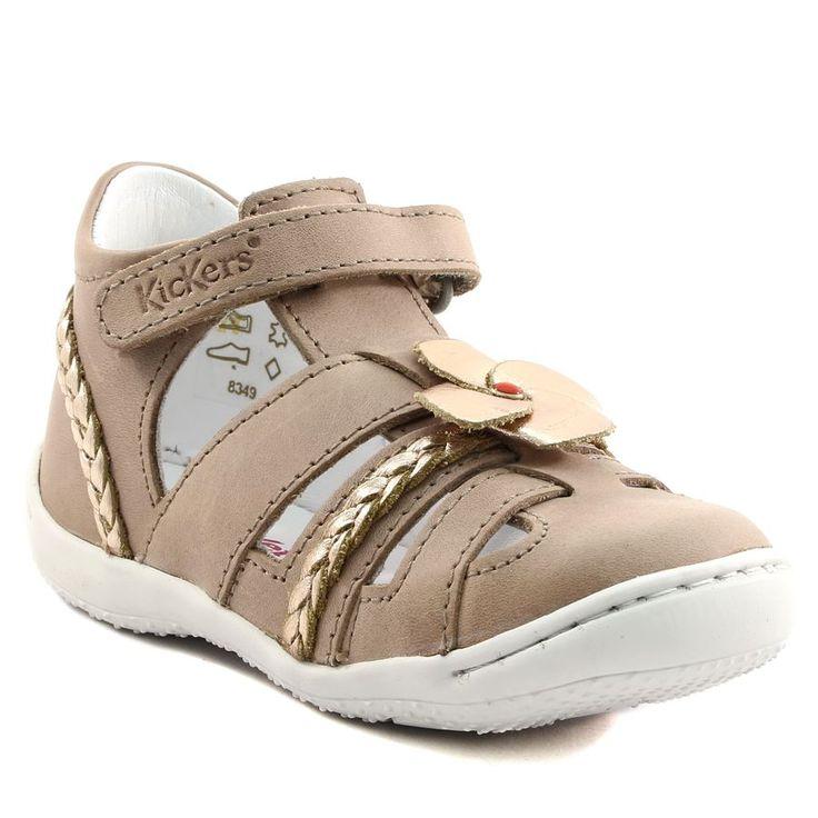 609A KICKERS GINGER BEIGE www.ouistiti.shoes le spécialiste internet  #chaussures #bébé, #enfant, #fille, #garcon, #junior et #femme collection printemps été 2017