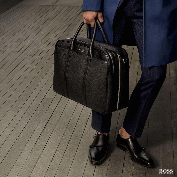schwarze Herrentasche für Travel & Business von Boss #Boss