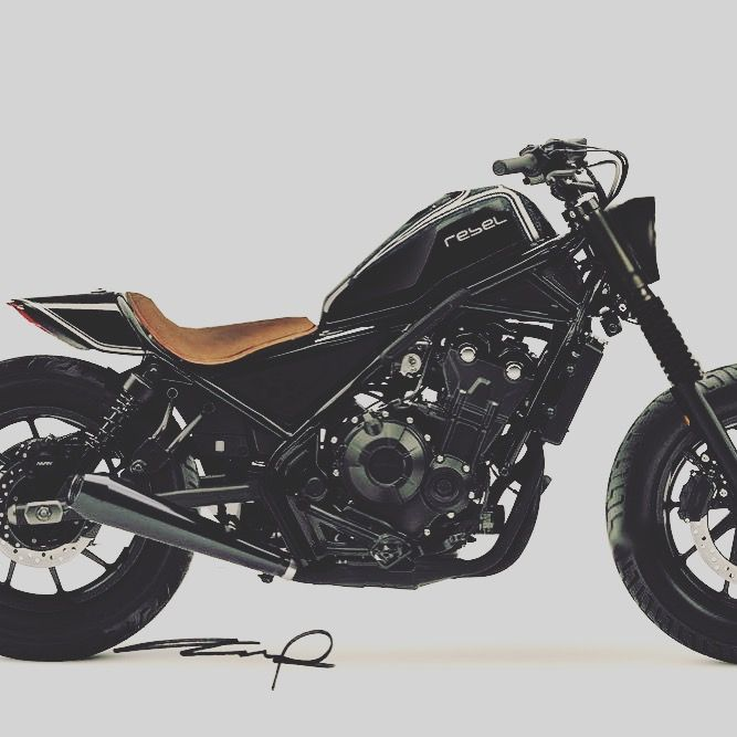 Honda Rebel 500 2017 black custom