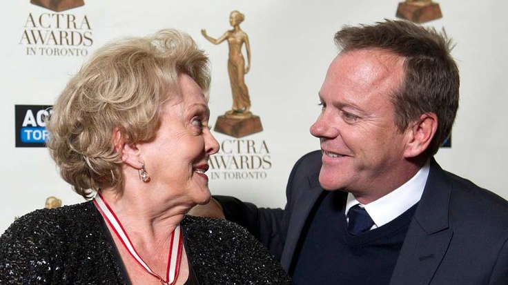 Shirley Douglas and her son Kiefer Sutherland