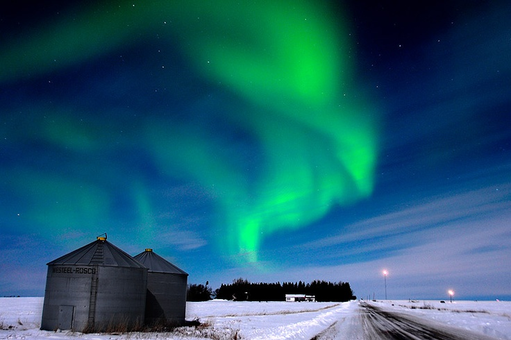 Northern lights near Grande Prairie, Alta. at approximately midnight, Wednesday, March 7, 2012