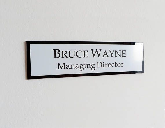 Executive Personalised Wall Name Plate Custom Engraved Sign Door Plaque Office