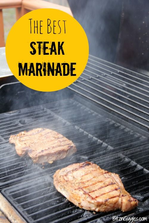 A marinade that literally soaks into the meat and infuses it with flavor. It takes only minutes to throw together! #steak # marinade #grill