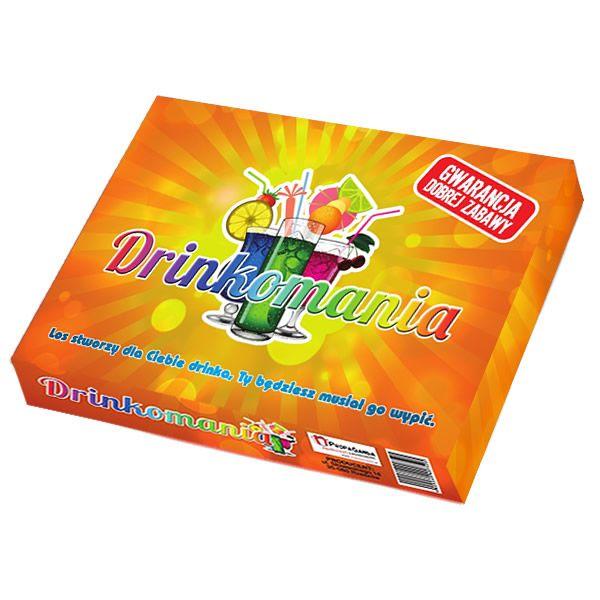 Drinkomania jest grą towarzyską, która polega na tworzeniu i mieszaniu drinków. Nieodłączny element każdej imprezy.
