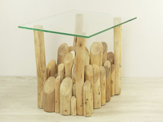 Organic handmade side table of branches with a by FreeTreeStudio | see more at https://www.etsy.com/shop/FreeTreeStudio
