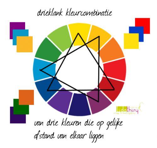 Kleuren combineren moeilijk? Klik op de foto om meer inspiratie op te doen. Een drieklank-kleurencombinatie  | www.lidathiry.nl | #kleurencombinatie
