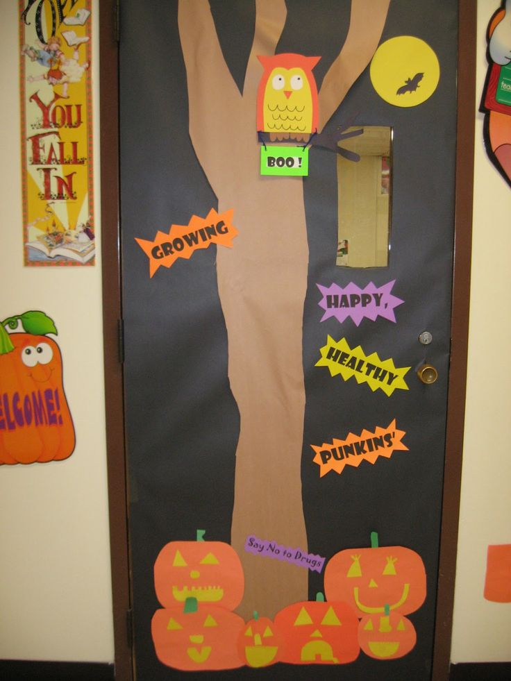 red ribbon week door decorating inspiration - Cute Halloween Door Decorating Ideas