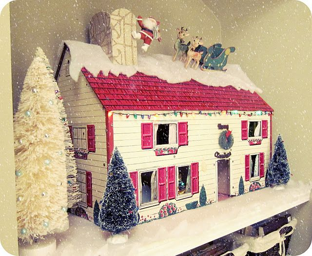 I like this idea! Would be good to do with my old dollhouse, make it a decoration!