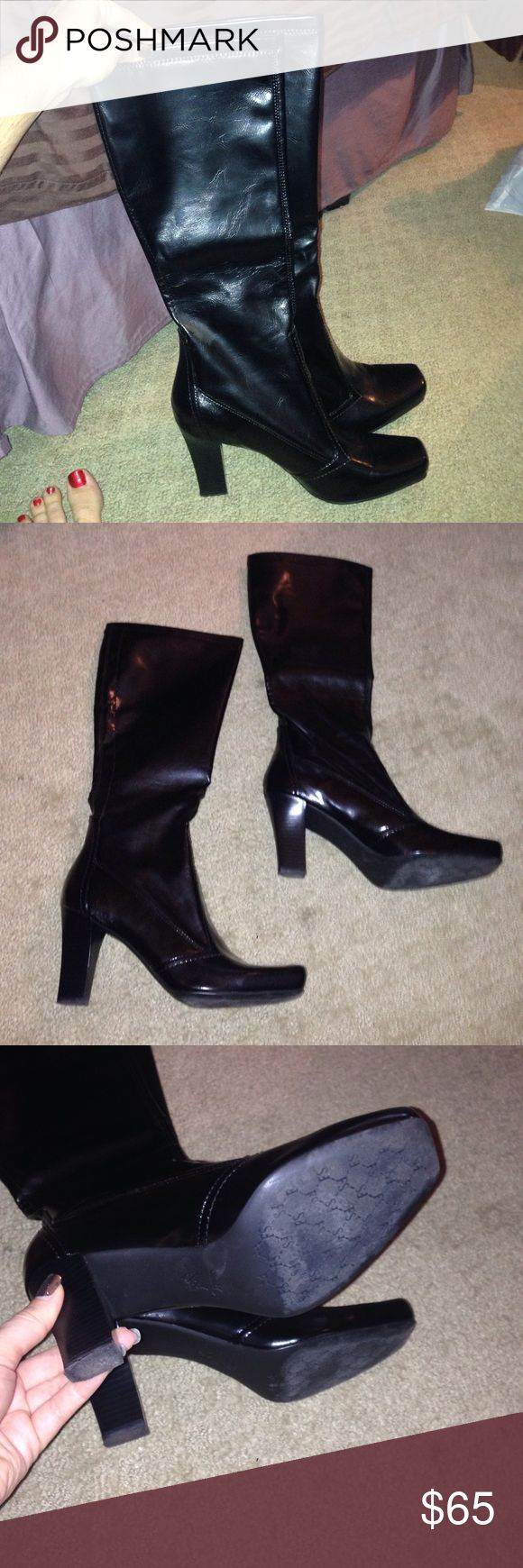 Barely Used Franco Sarto Boots In excellent condition! Franco Sarto Shoes Heeled Boots