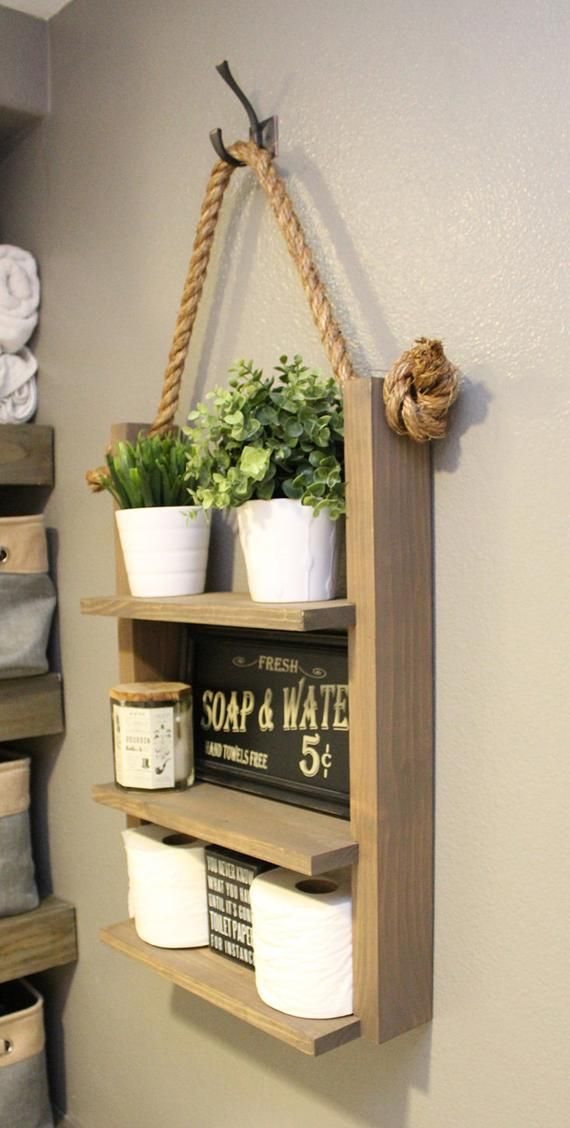 Farmhouse Furniture Bathroom Shelf Organizer Ladder