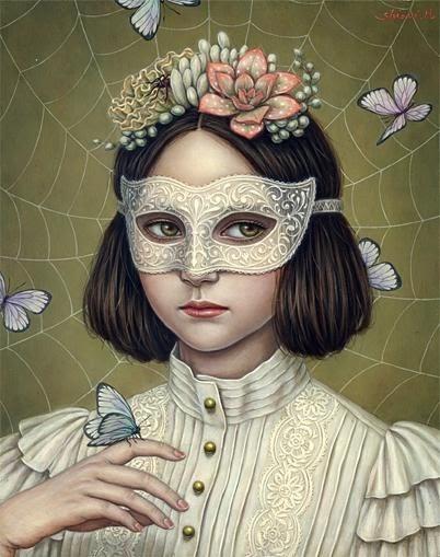 Shiori Matsumoto: Art, White Snare, Inspiration, Illustrations, Art Shiori Matsumoto, Masquerade, Artist Shiori Matsumoto, Painting