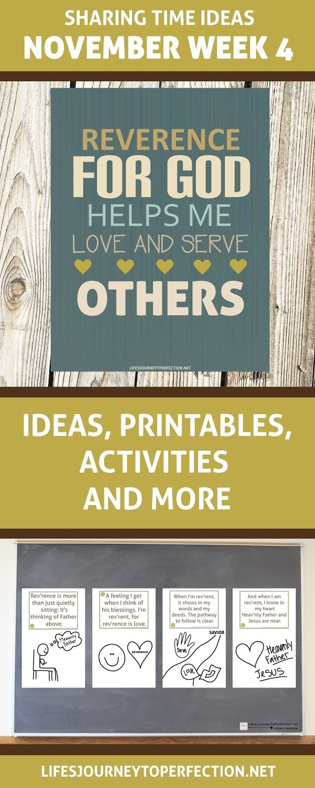 LDS SHARING TIME IDEAS FOR NOVEMBER WEEK 4: REVERENCE FOR GOD HELPS ME LOVE AND SERVE OTHERS PRIMARY IDEAS AND ACTIVITIES