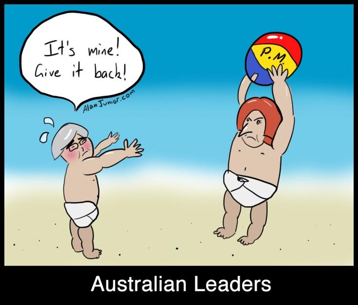 Australian Leaders Kevin Rudd and Julia Gillard fight for Prime Minister position. Politics!