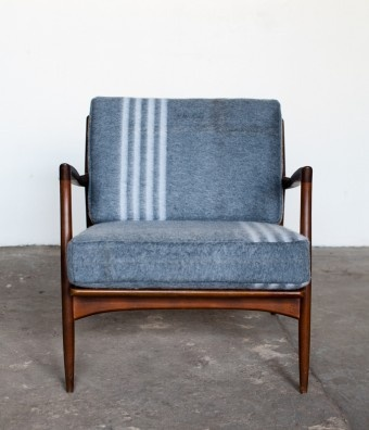 poul jensen selig chair with custom czech military upholstery