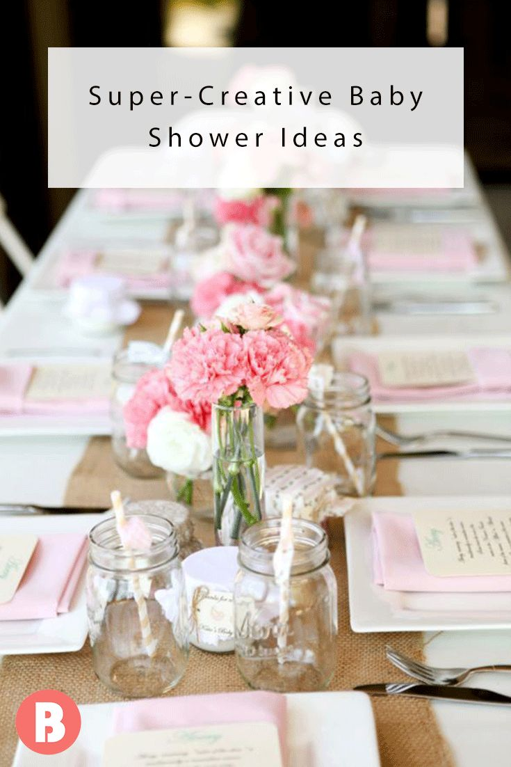 Prepping for baby's debut is a big undertaking, so keep your shower simple. Use what you have (cake stands, tablecloths, cupcake racks, platters) to make an otherwise boring shower eclectic, fun and homey.