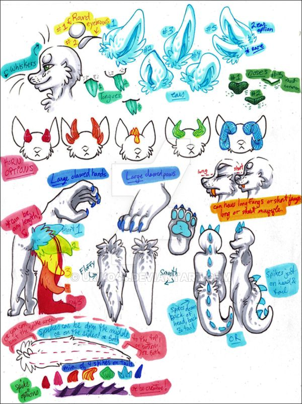 Dinodog.Species.Sheet.OPEN.SPECIES::..+ by Uriko44 on @DeviantArt